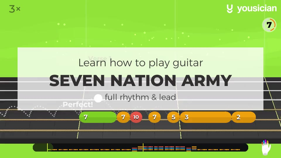 Learn How To Play Seven Nation Army On Guitar Yousician