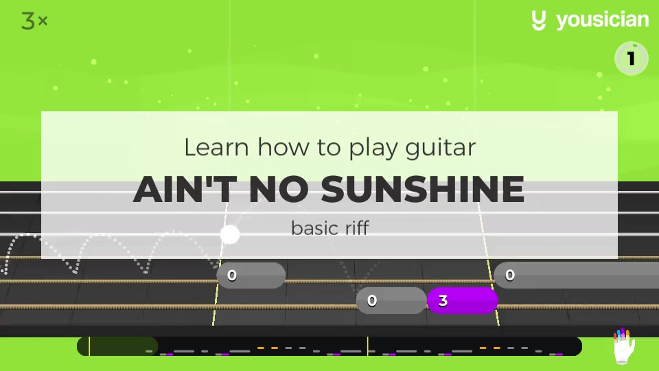 Learn How To Play Ain T No Sunshine On Guitar Yousician (n.c) hey, i oughta leave young thing alone, am em g but ain't no sunshine when she's gone. learn how to play ain t no sunshine on guitar